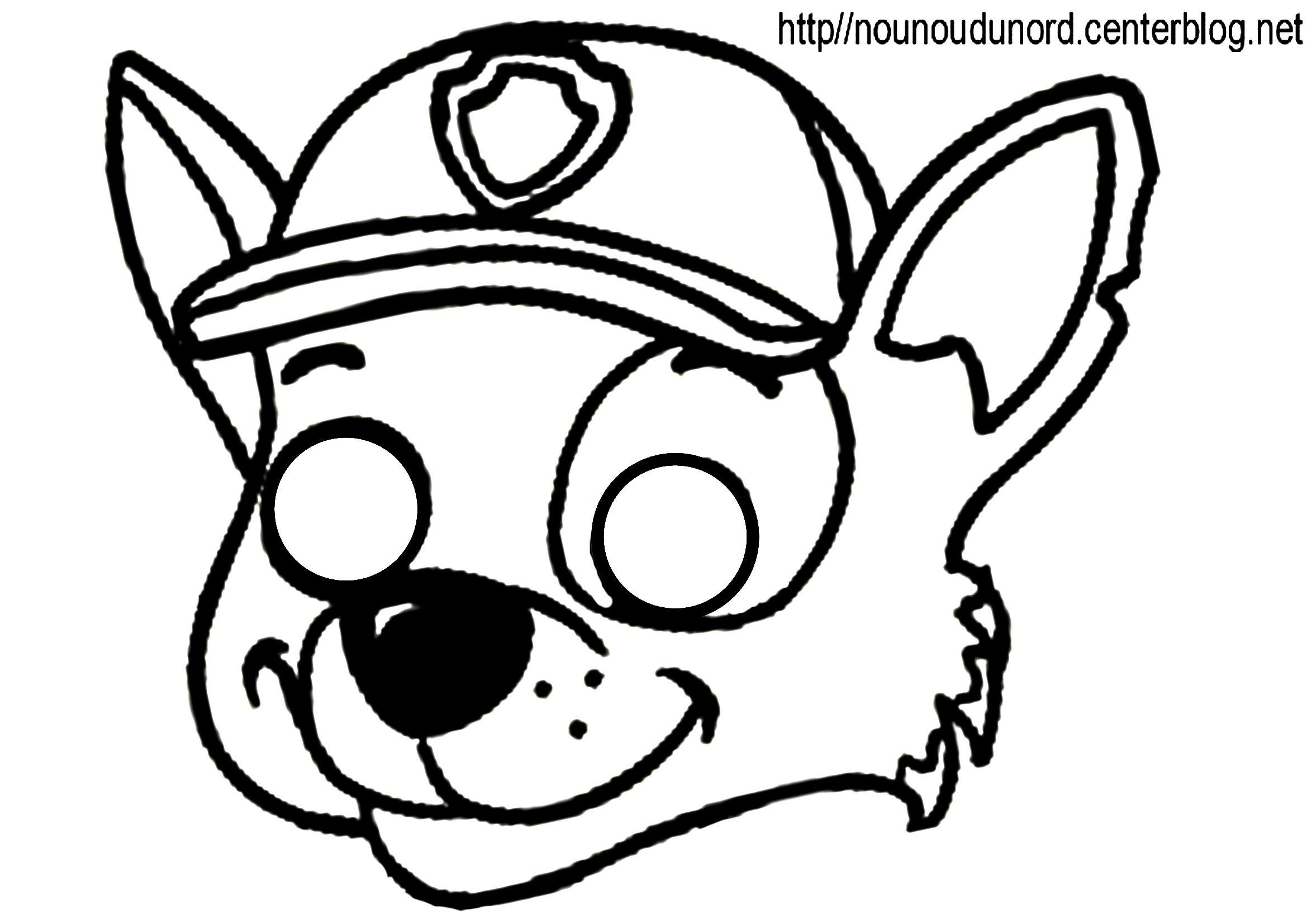 masque pat patrouille rocky d autres mod¨les  imprimer cliquez sur mon lien