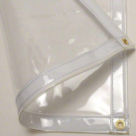 Sigman 8 X 12 Clear Vinyl Tarp 20 Mil Made In Usa Patio Enclosures Clear Vinyl Porch Enclosures