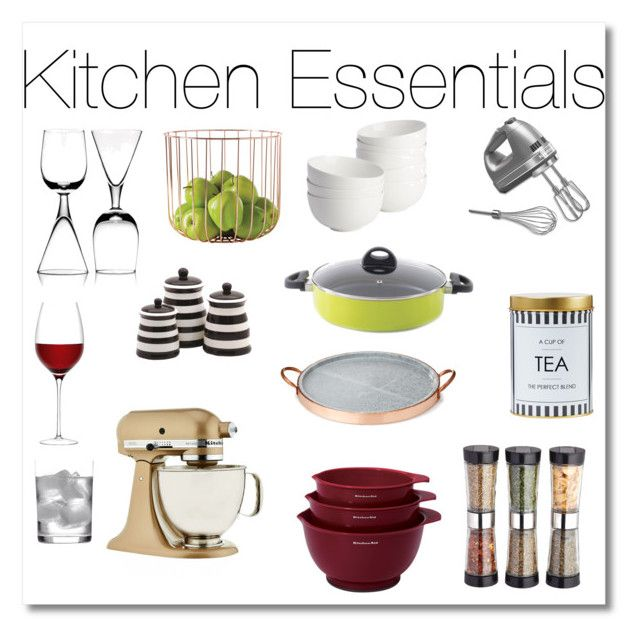 """Kitchen Essentials"" by design360 ❤ liked on Polyvore featuring KitchenAid, BergHOFF, Master Class, Dot & Bo, Deborah Ehrlich, CB2, LSA International, B by Brandie and kitchen"