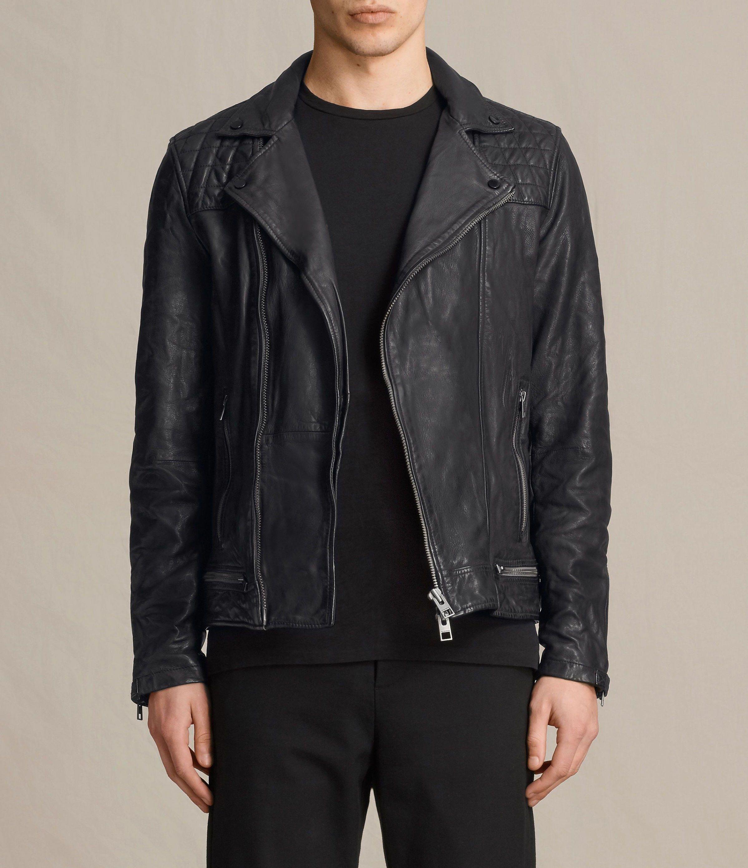 navy blue jacket mens. Black leather jacket men, Leather