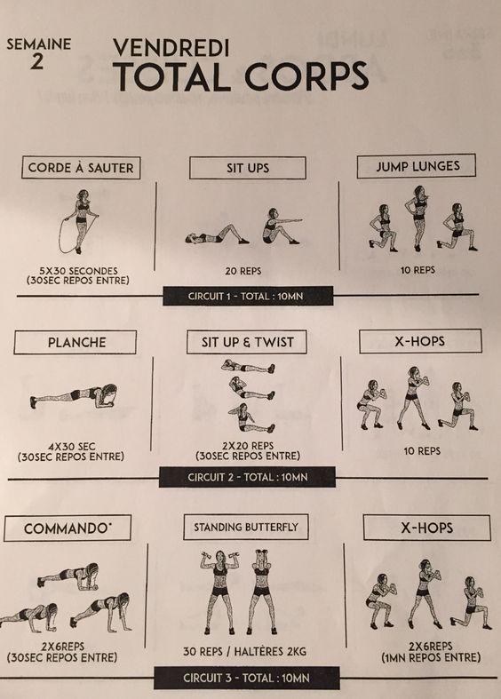 vendredi sem 2 tbc 1 pinterest body challenge semaine et exercice. Black Bedroom Furniture Sets. Home Design Ideas
