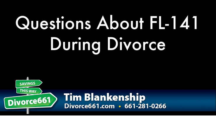 Questions About FL-141 During Divorce | Santa Clarita  There are a lot of forms which are, let's be honest, hard to fill in. Not only it is difficult, you also have to complete it without any errors as it affects the time your divorce gets finalized. For any questions about this specific form - FL-141, please check on the link I have included below.