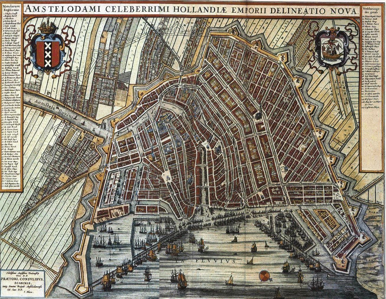 Httpodurletrugnlmapsimagesblaeuamsterdamjpg Travel - Amsterdam old map