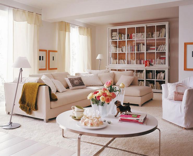 Wohnen in Weiß – Ratgeber und Wohnideen | elegante Wohnzimmer ...
