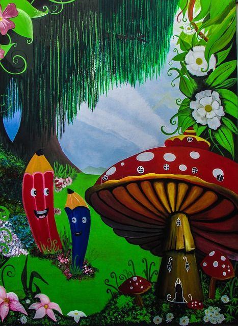Free Image On Pixabay Kindergarten Painting Wall Playschool