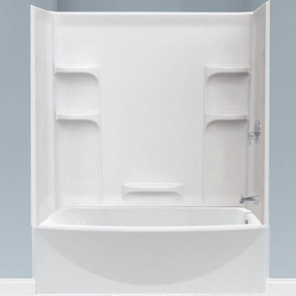 American Standard Ovation 5 Ft Left Hand Drain Bathtub In Arctic