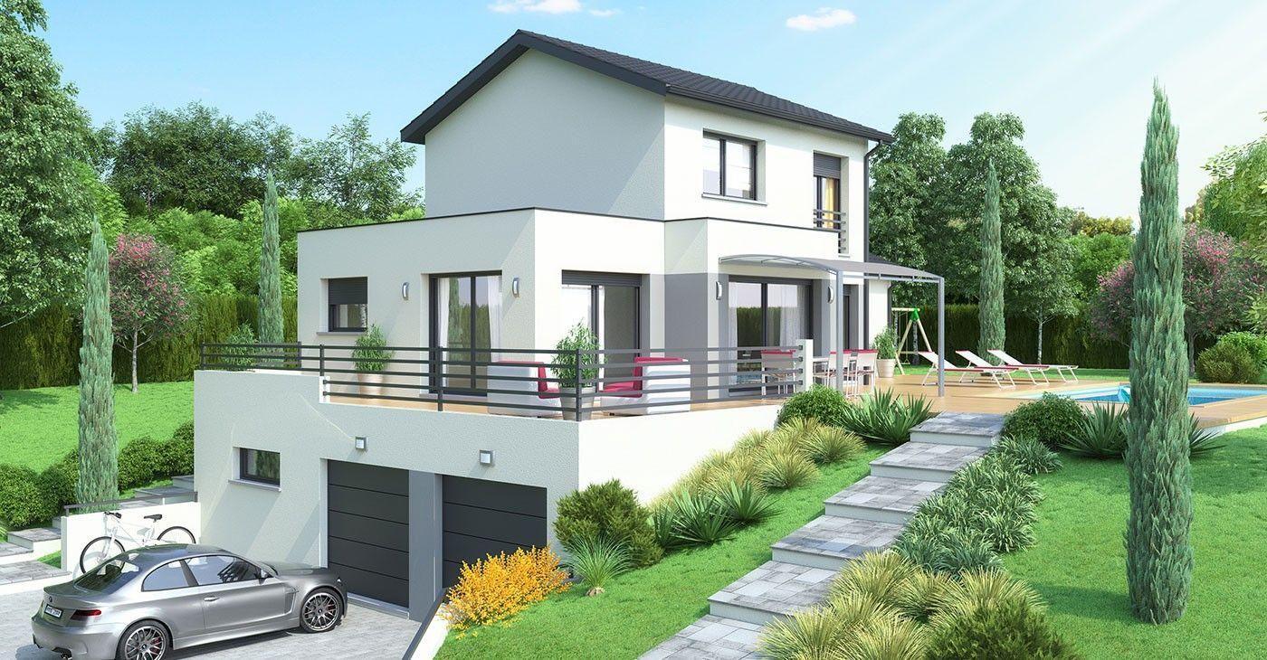 38 Plan Maison Sur Terrain En Pente Architecture House House Layouts Modern House Floor Plans