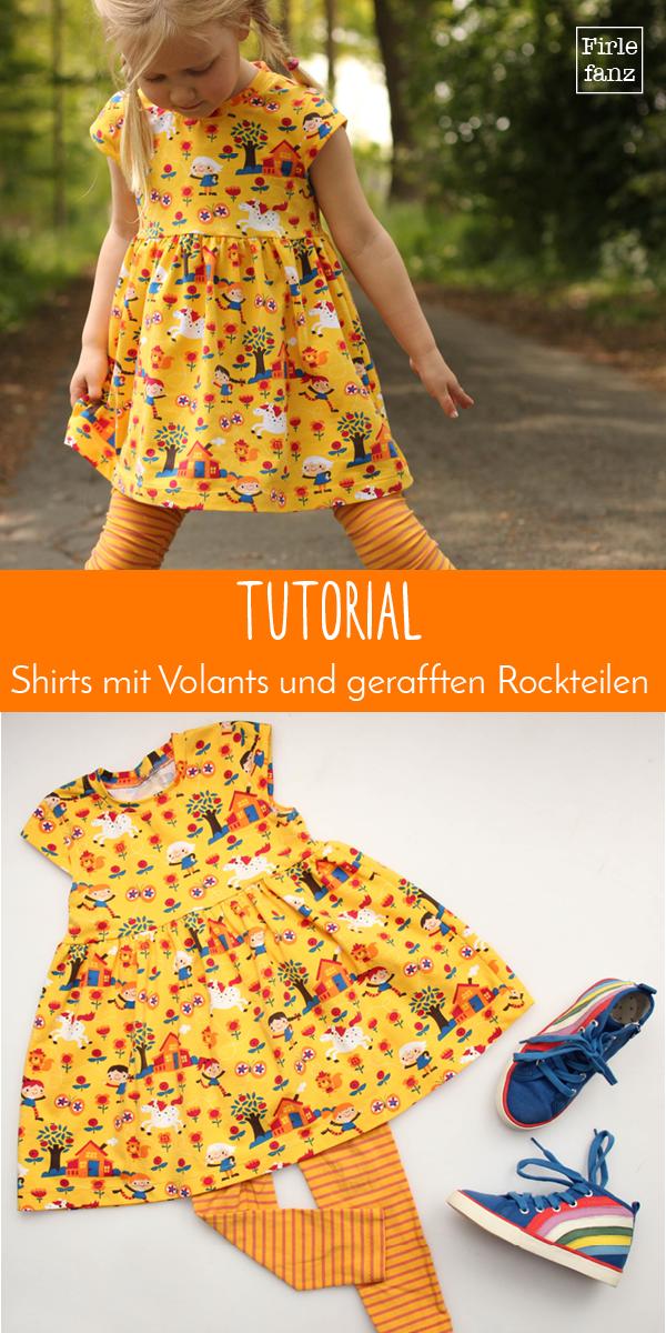 Tutorial für geraffte Rockteile und Volants #tunicdresses