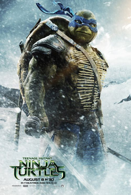 Teenage Mutant Ninja Turtles Leonardo Poster Teenage Mutant Ninja Turtles Movie Ninja Turtles Movie Ninja Turtles 2014