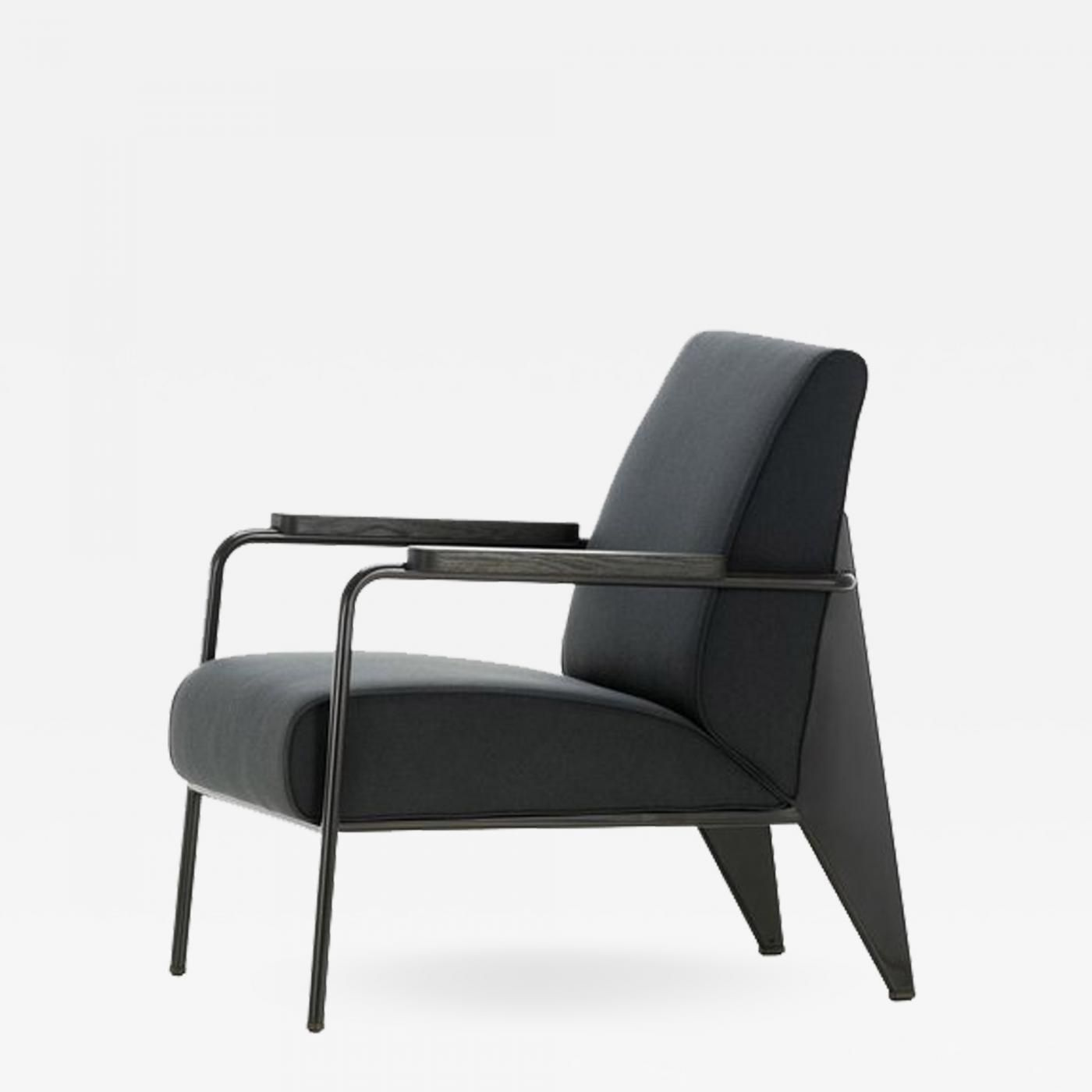 Jean Prouve Re Editions Vitra Fauteuil De Salon Armchair In Black By Jean Prouve In 2020 Furniture Armchair Vitra