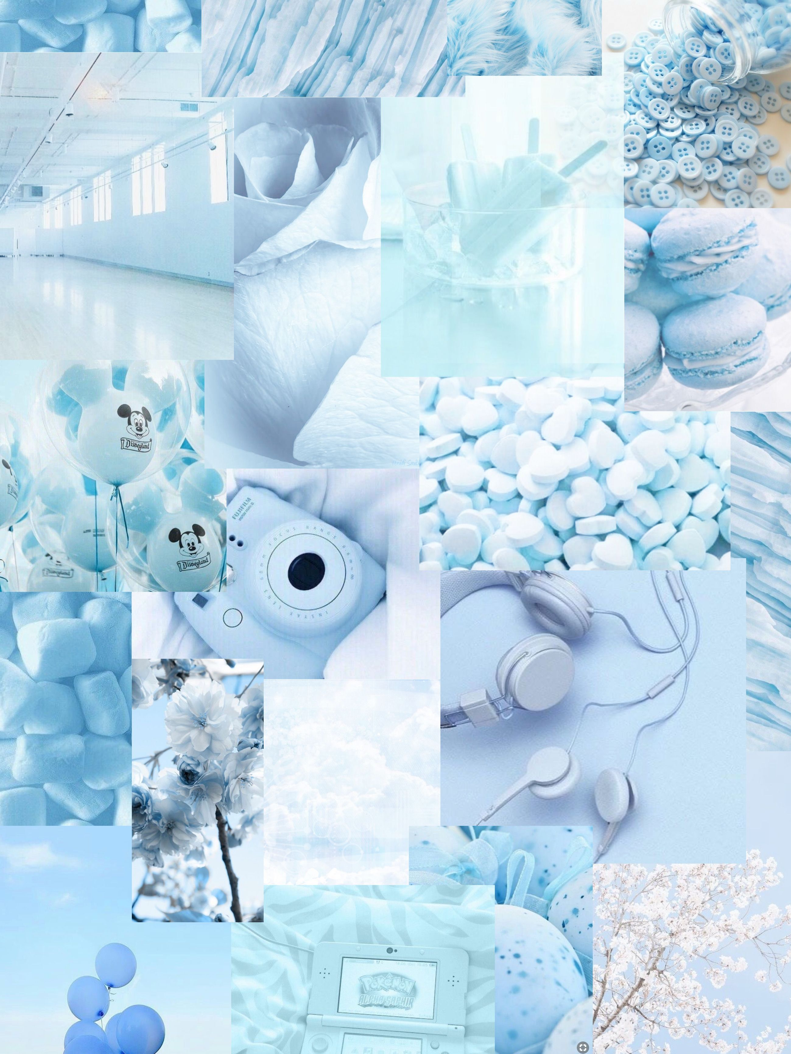 Freetoedit Blue White Aesthetic Background Wallpaper Babyblue Skyblur Balloons Flowe In 2021 Baby Blue Wallpaper Baby Blue Aesthetic Blue And White Wallpaper