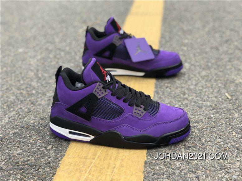 sports shoes 9455d da74b Travis Scott X Air Jordan 4 Purple/Black-White Super Deals ...