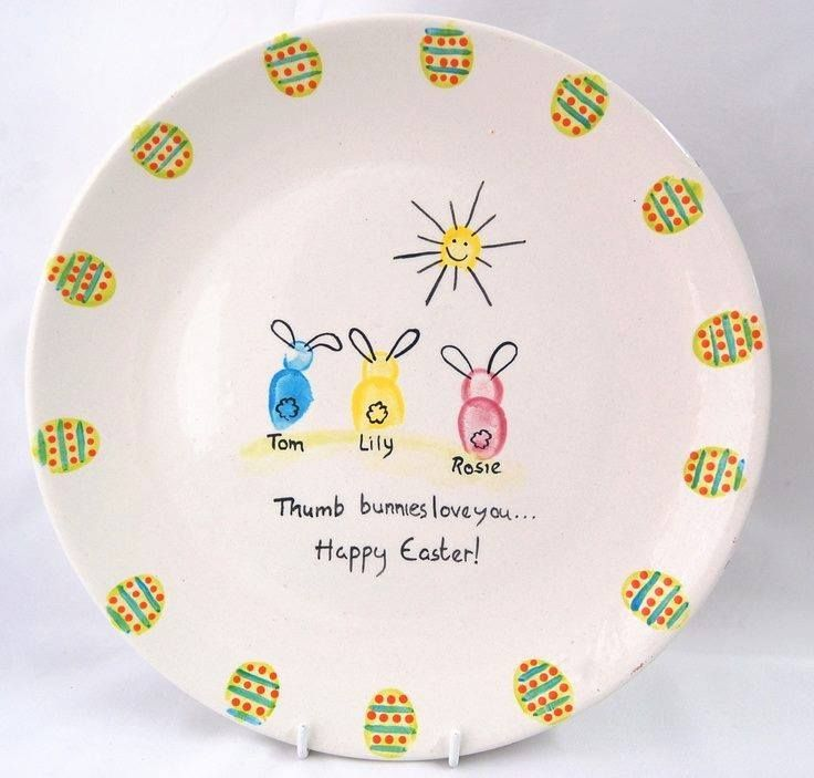 place settings Easter Childrens Ea Personalised Ceramic bunny Easter bunnies