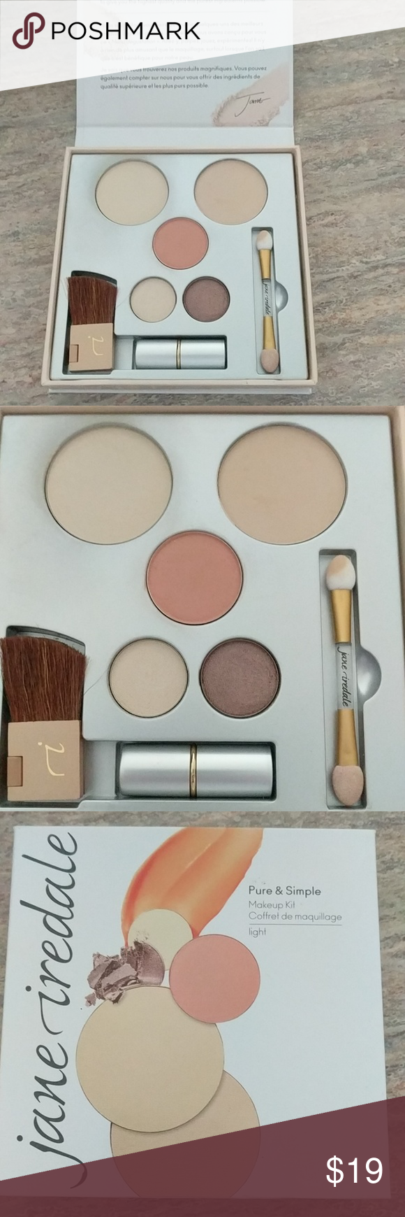 Jane Iredale makeup kit in Light Used twice. The colors