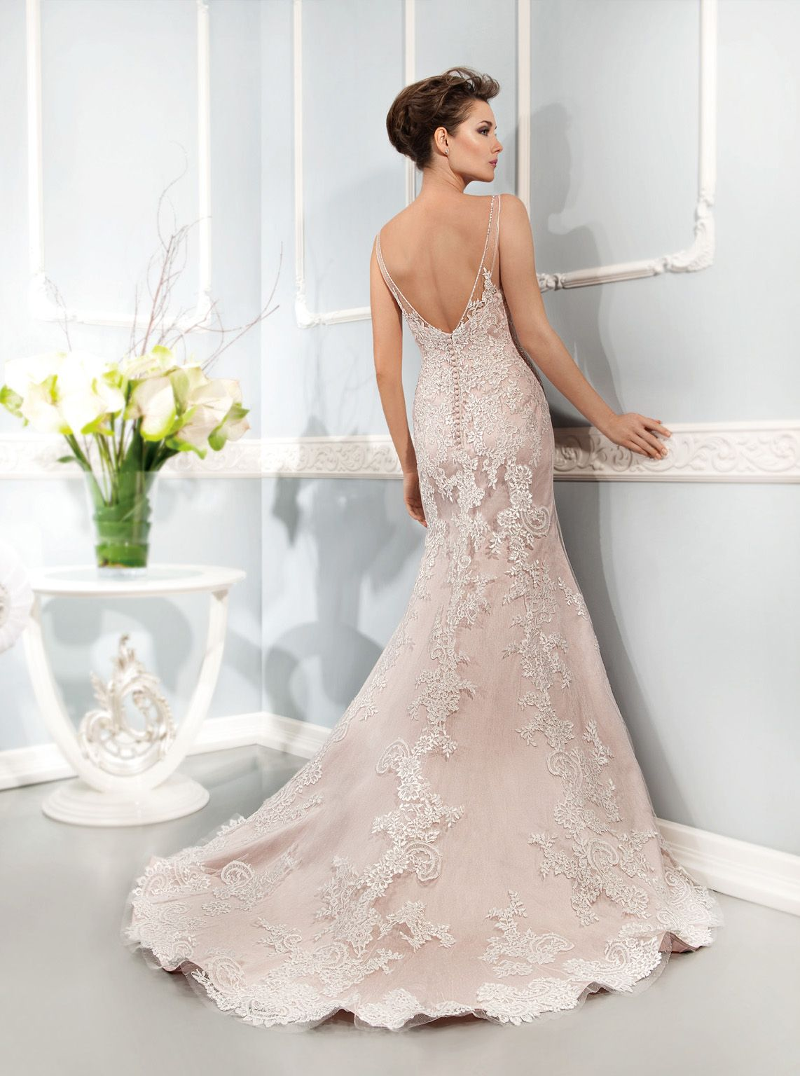 Vintage lace champagne wedding dress  Cosmobella Collection Official Web Site   Collection  Style