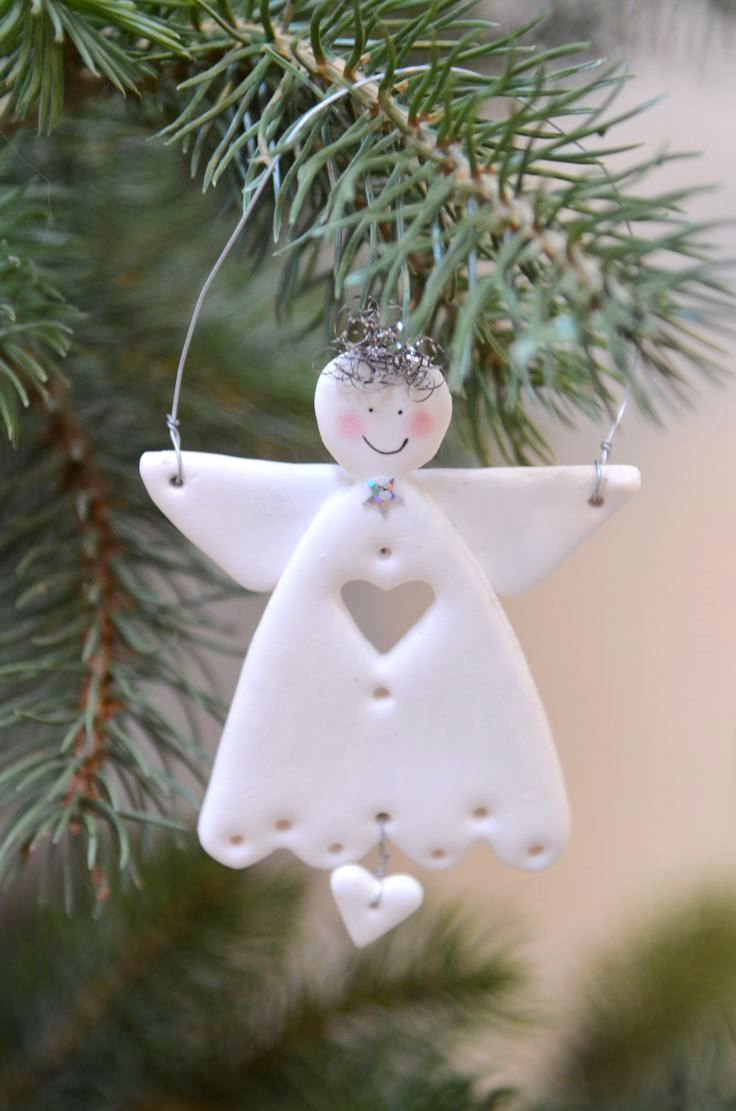 Delicieux Dough Ornaments · Christmas Tree AngelChristmas Tree TemplateWhite ...