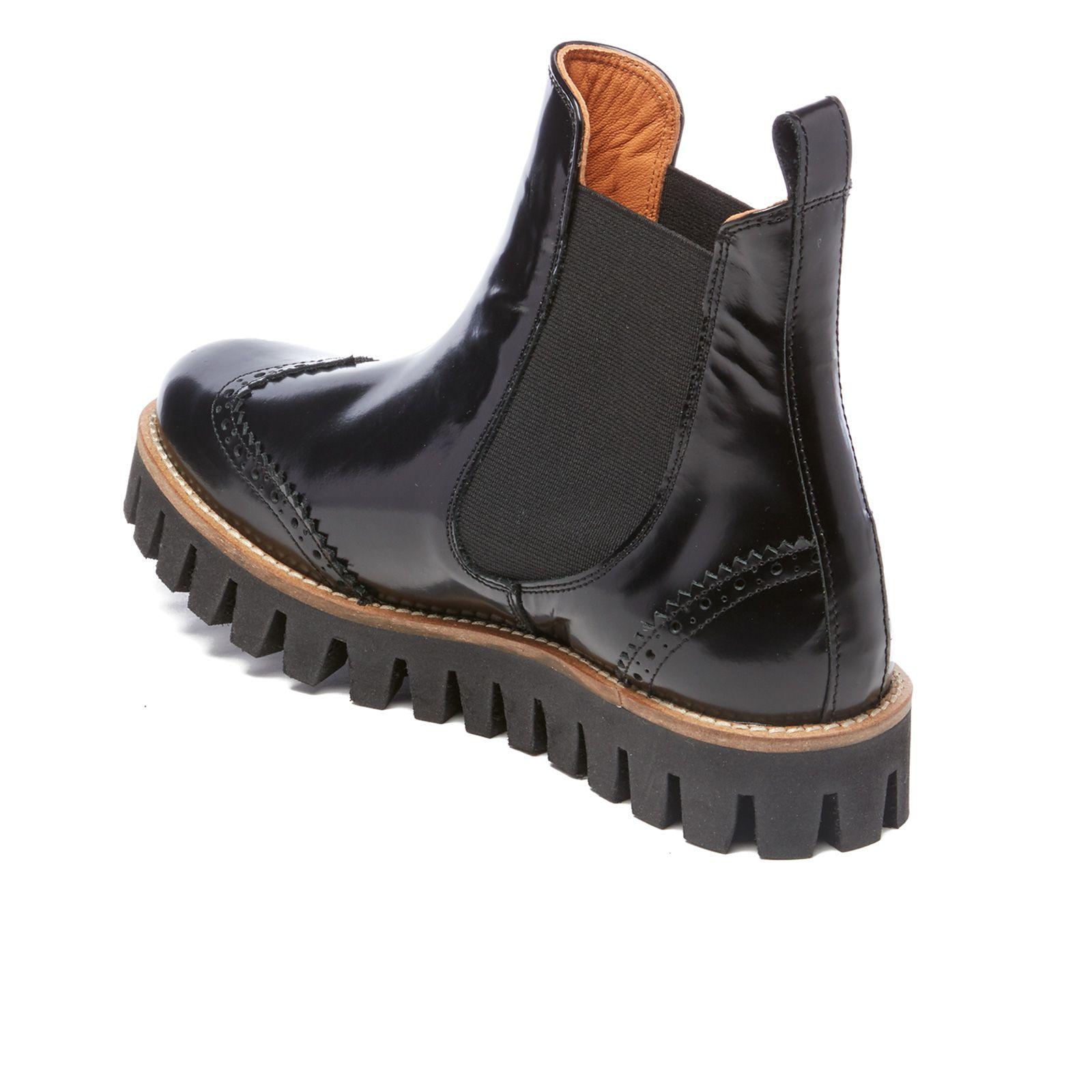 Free Ganni Black Boots Clothing UK Chunky Women's Erin Shine kOPiuXZ
