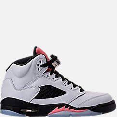923f3a31fbdcc1 Girls  Grade School Air Jordan Retro 5 (3.5y-9.5y) Basketball Shoes ...
