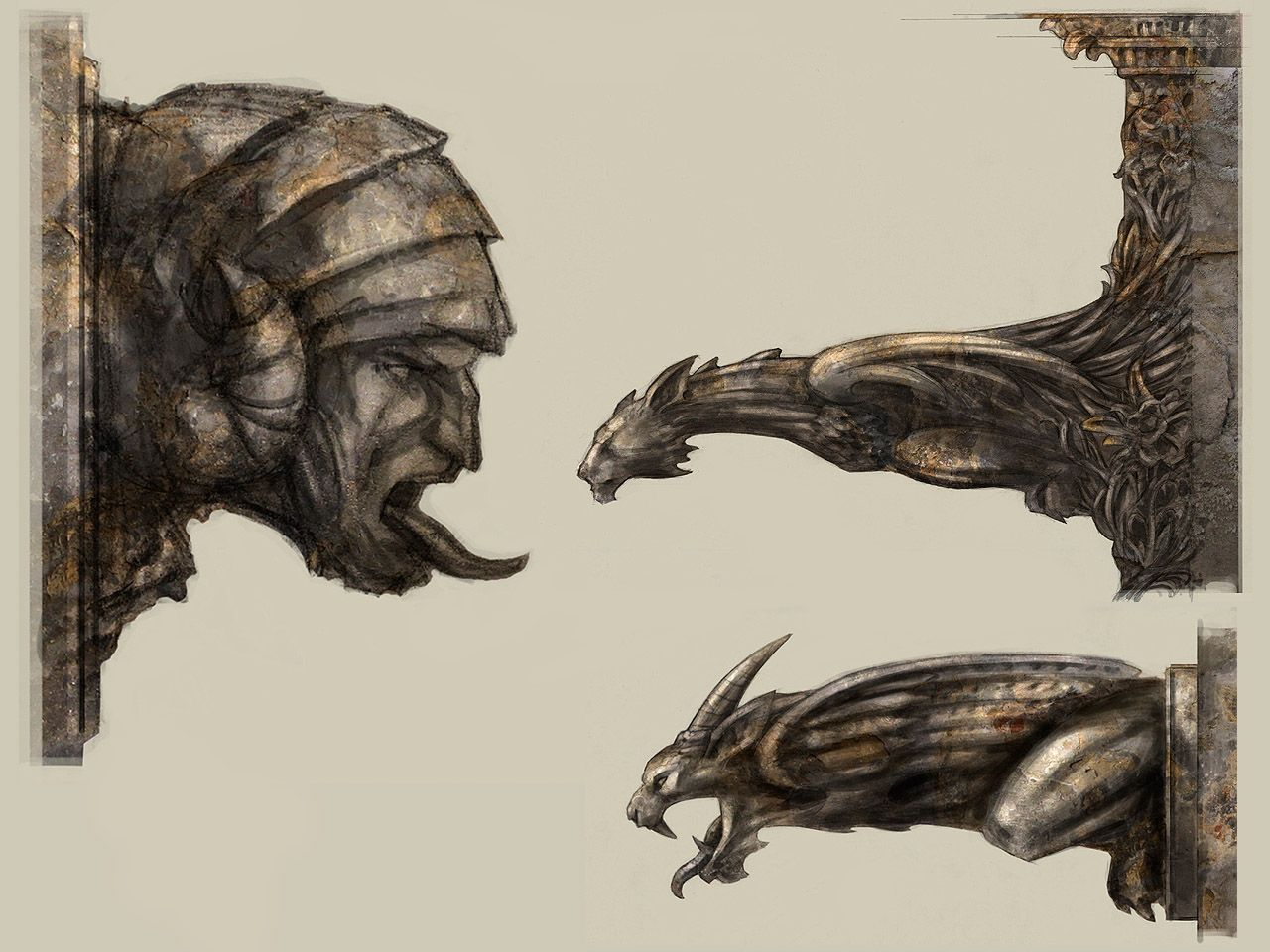 Wheelman™ Gargoyles Gargoyles art, Gargoyle drawing