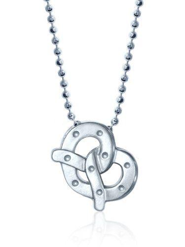 Alex Woo Little Pretzel in Sterling Silver Pendant Necklace%2C 16%22