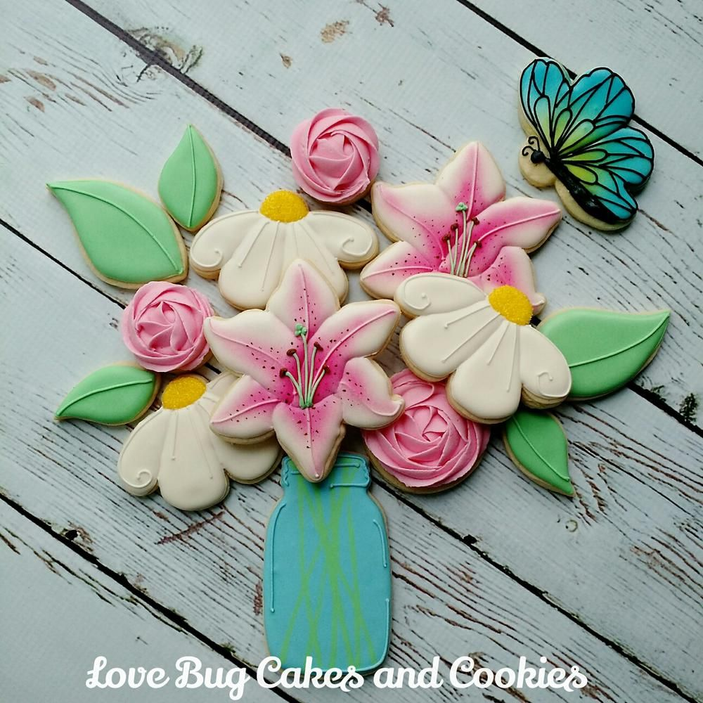 Flower Bouquet   Cookie Connection   Floral / Tree Cookies ...