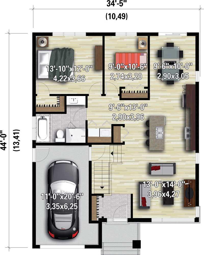 Plan 80867pm Petite Contemporary House Plan Bungalow House Plans Contemporary House Plans House Plans
