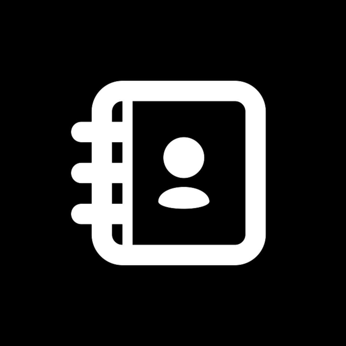 Black Contacts Icon Black App Iphone Photo App App Logo