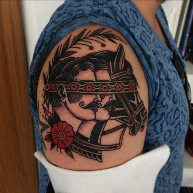 American traditional horse tattoo google search tattoo for Horse tattoo traditional