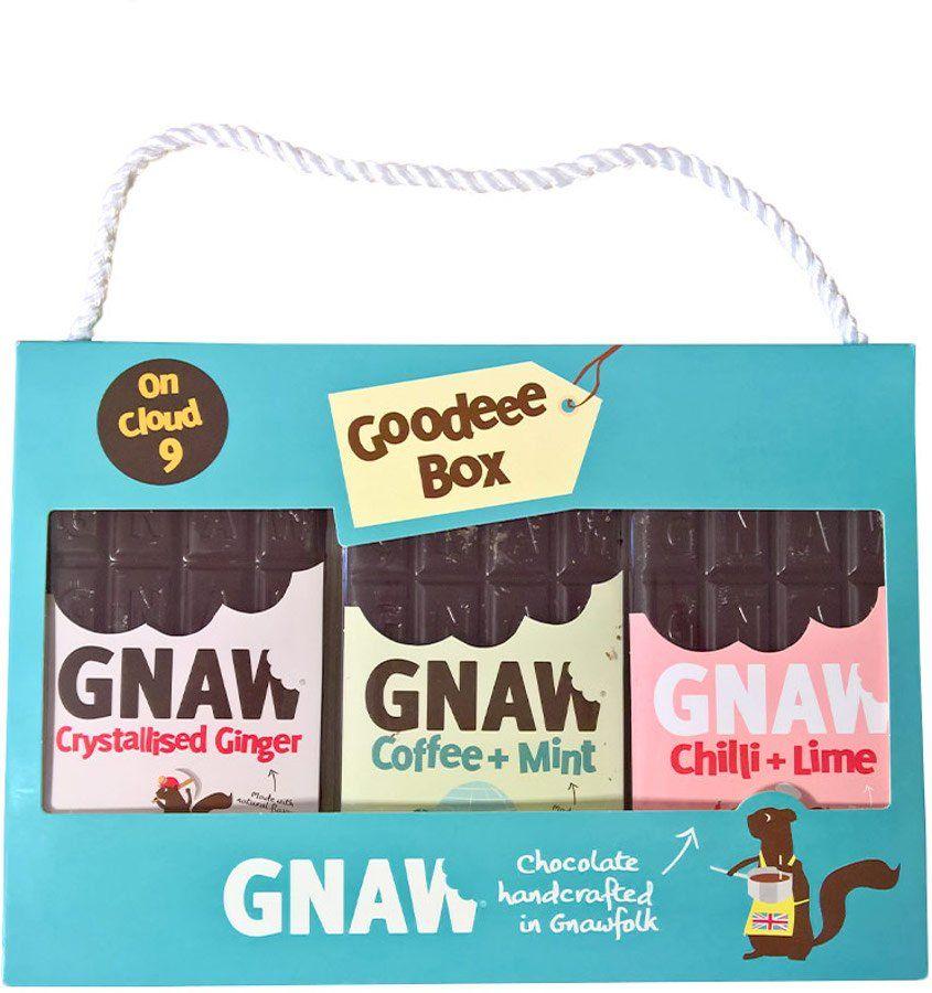 Gnaw dairy free chocolate on cloud 9 goodeee box 300g