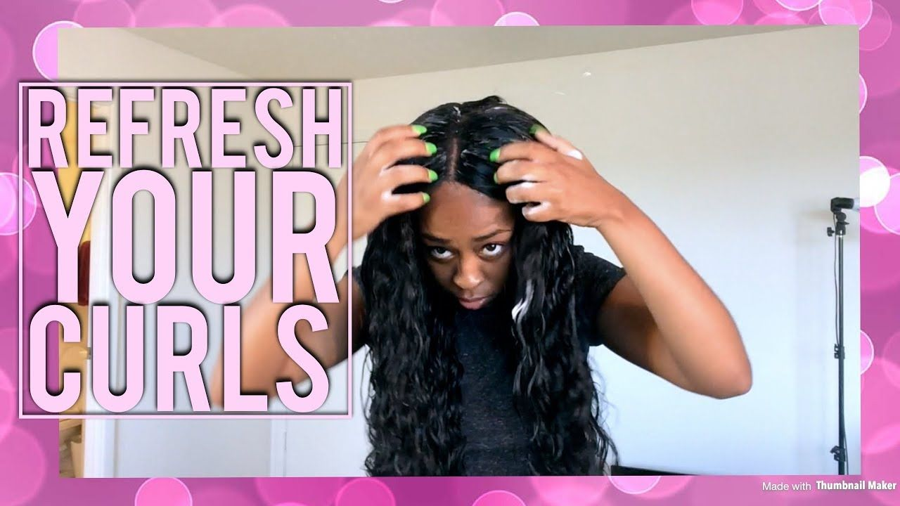 Curly hair routine refresh curls curly wig youtube