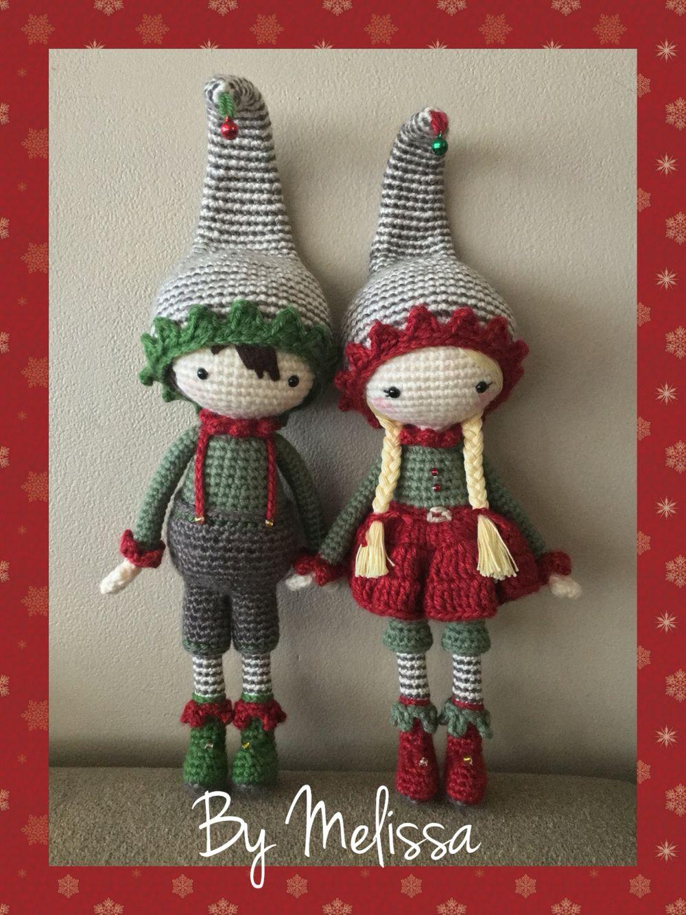 Christmas elves amigurumi | amigurumis | Pinterest | Duendes ...