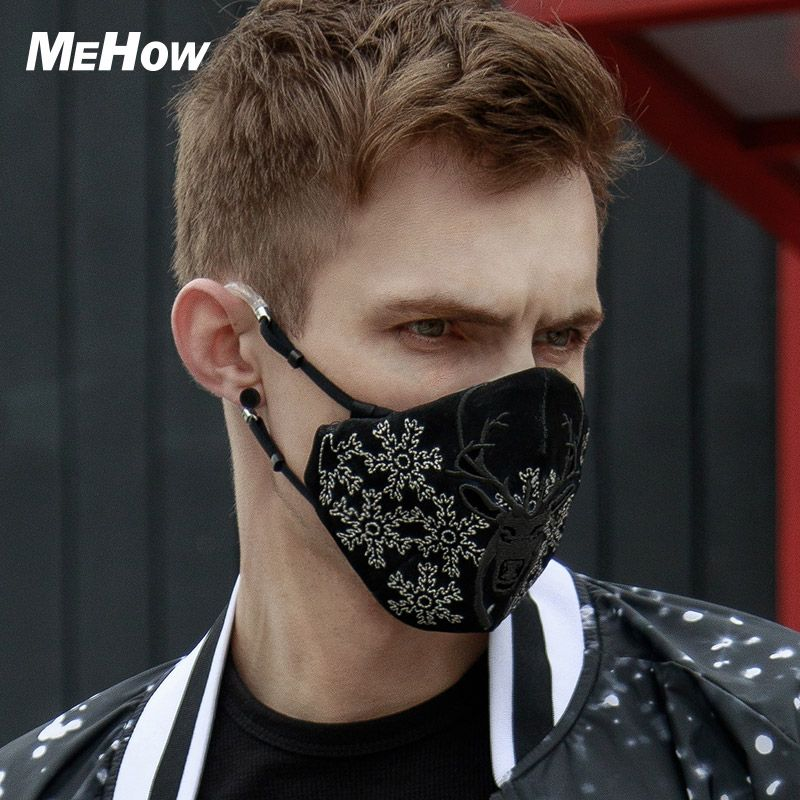 MeHow Silk Fabric Cloth Elk Face Mask PM2.5 Antidust Haze