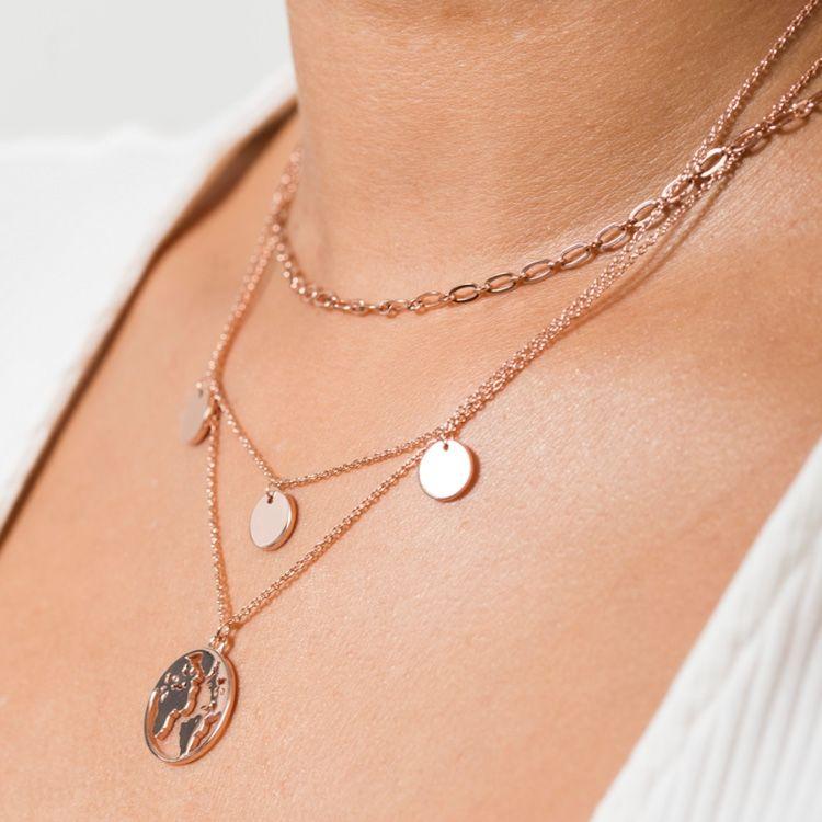 Multi Coin Kette Rosegold (mit Bildern) Kette rosegold