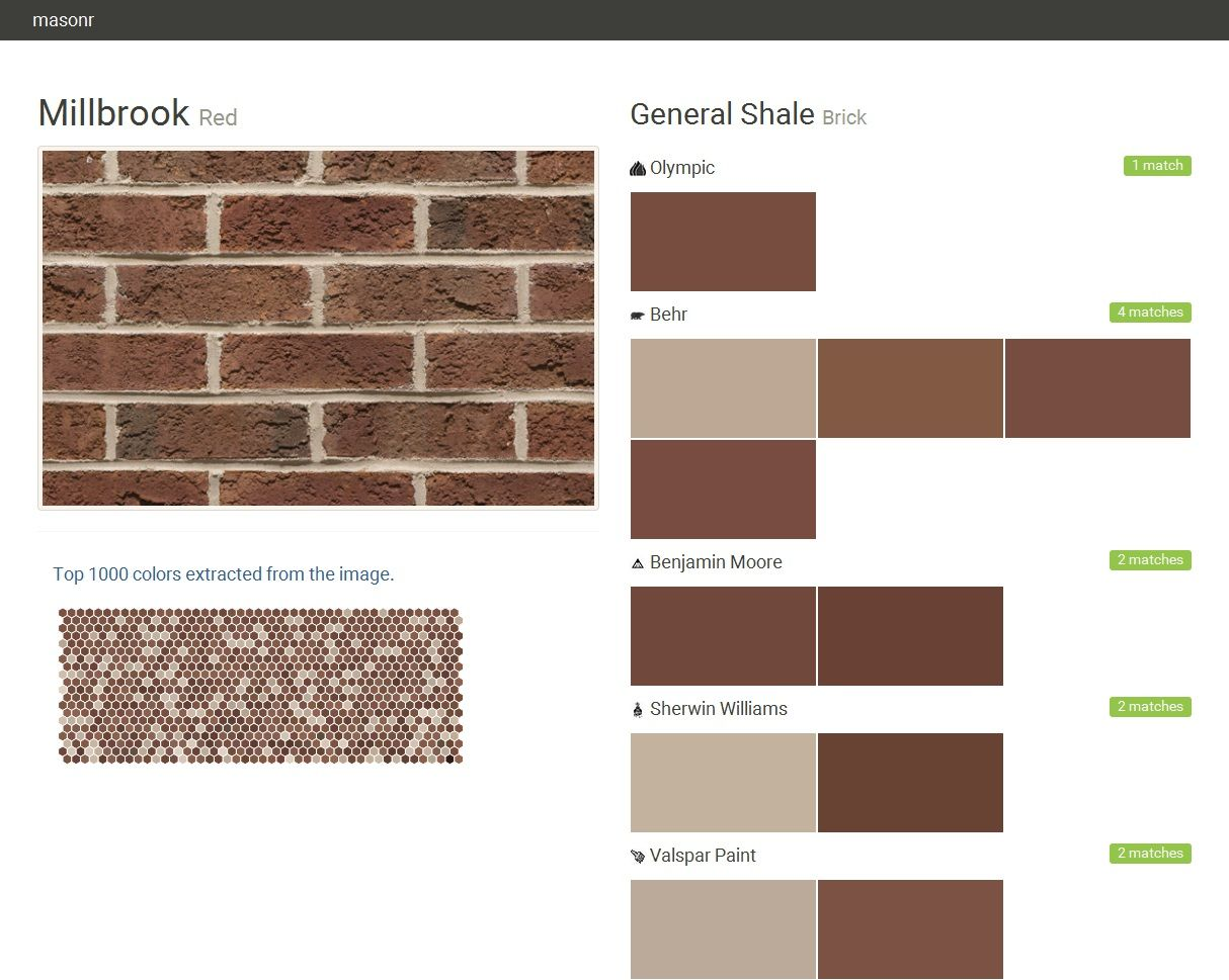 Millbrook Red Brick General Shale Olympic Behr