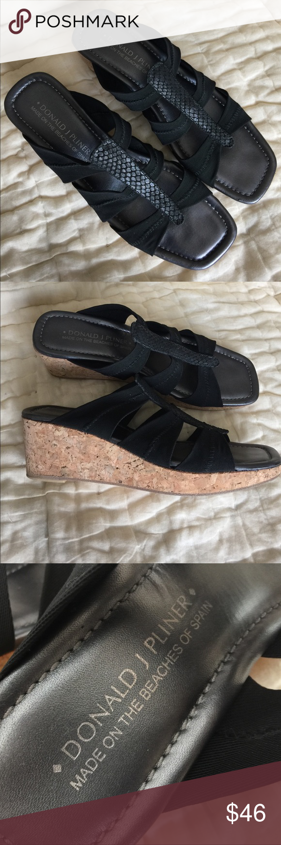 Donald J. Pliner wedges Made on the beaches of Spain. Used but in very good condition. Donald J. Pliner Shoes Wedges