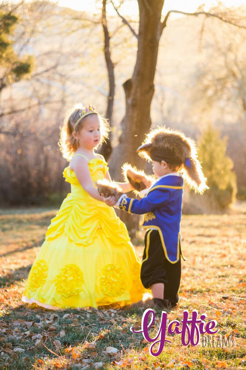 8ec59efd0aa4 Beauty and the Beast costumes review disney kids couple cute girl boy Disney  princess Belle dress
