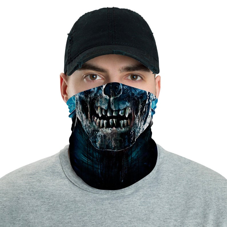 5 Pack 3D Tube Mask Seamless Durable Mouth Cover Bandanas Motorcycle Half Face Mask for Men Women Breathable Rave Face Scarf