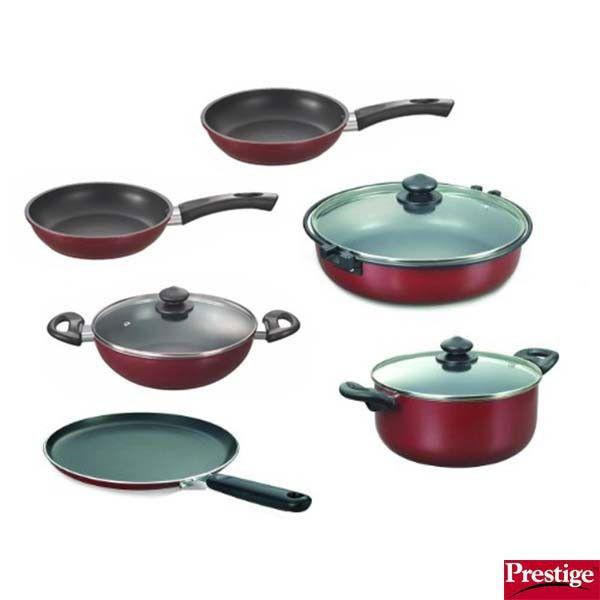 Prestige Non Stick Cookware Sets Buy Prestige Omega Deluxe Non Stick Kitchen Cookware 6 Pcs Set Online Kitchen Cookware Cookware Sets Buy Kitchen