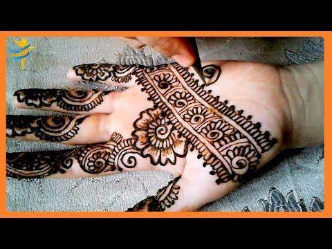 رسمة على كف اليد ستيل عصري و انيق من دروس تعليم النقش بالحناء المرجو الاشتراك في القناة ليصلكم كل جديد شكراااا Simple Mehndi Designs Hand Henna Mehndi Designs