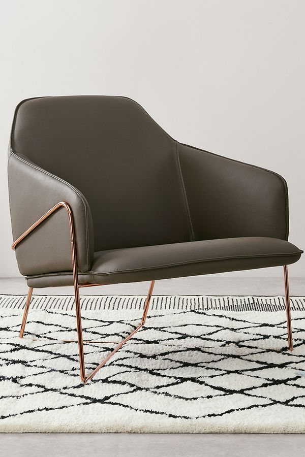 Stanley Accent Chair, Warm Grey Leather With Brushed Copper Frame | Copper  And Rose Gold Décor | Made.com | Pinterest | Accent Chairs, Room And Living  Room