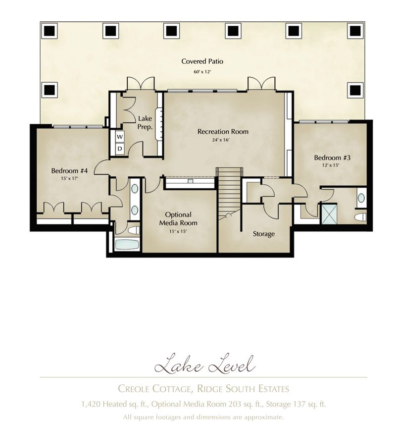 Creole Cottage Home In Ridge South Estates Creole Cottage Cottage House Plans Cottage Floor Plans
