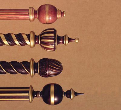 Wood Poles Finials Traditional Collection By H H Wooden Curtain Poles Finials For Curtain Rods Finials Decorative finials for curtain rods