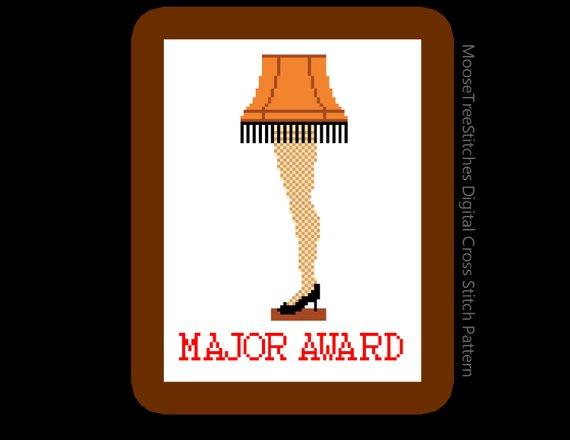 MAJOR AWARD Leg lamp Digital cross stitch pattern from the movie A