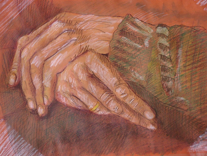 """""""Markante Hände"""", gemalt von EMO SCHUSCHNIG, Eichenau"""