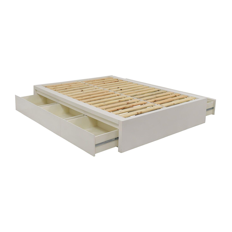 Gunstigen Polsterbett Rahmen Holz Bettkasten Mit Schubladen King