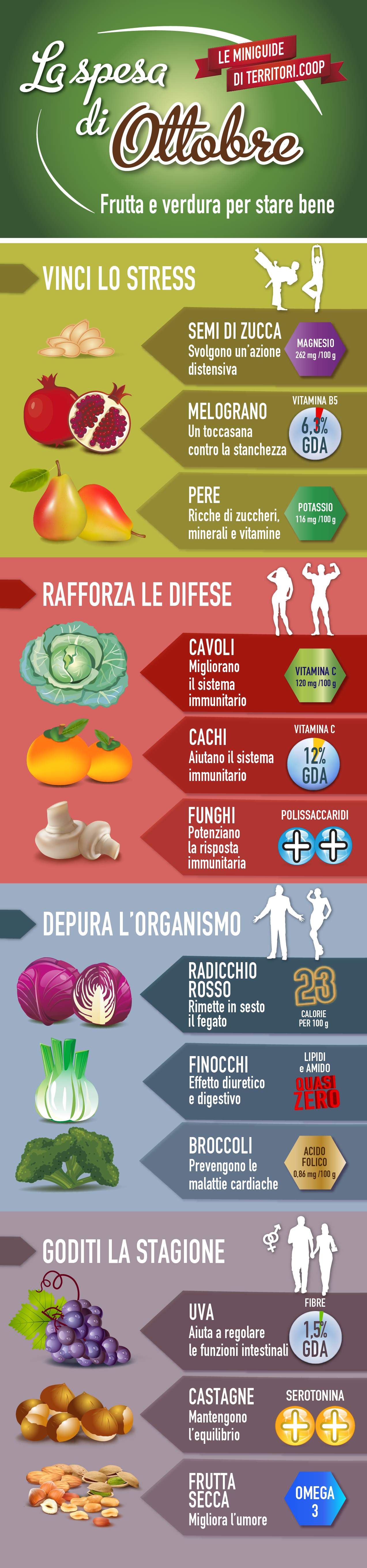 La spesa di ottobre #territoriCoop #frutta #verdura #stagione