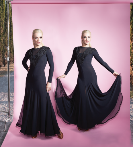 476dd4db5b79e Stock Clearance Tania Lacey Ballroom Dress in Black | Chrisanne ...