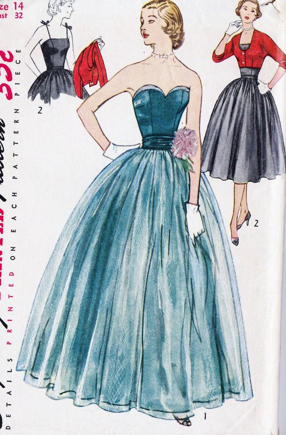 1950s Misses Evening Dress Evening Gown Prom by MissBettysAttic ...