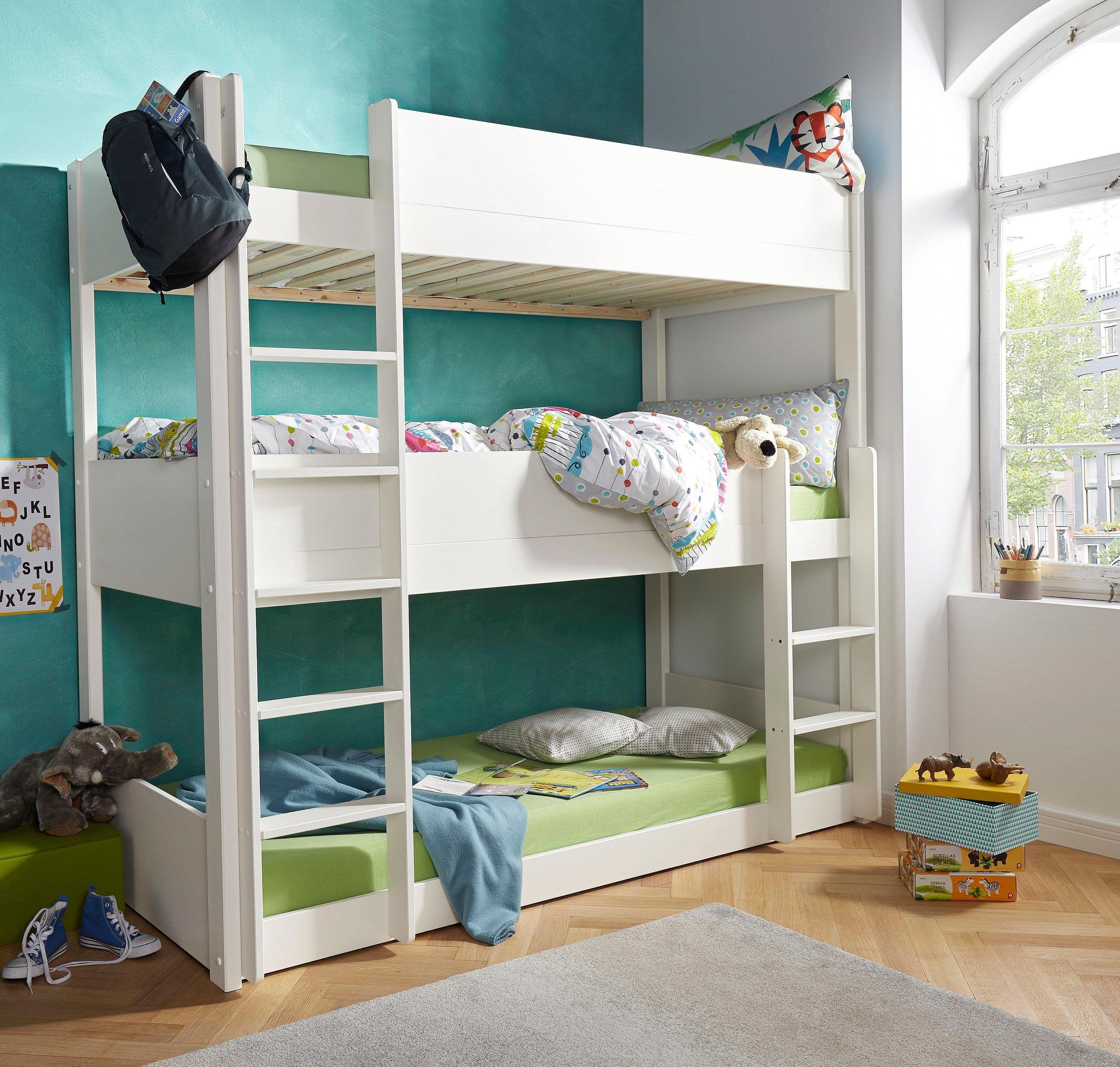 Hochbett Mit Zwei Einzelbetten Und Stauraum Bett Ideen