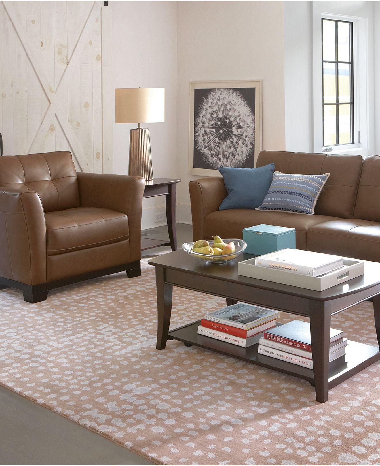 Martino Leather Sofa Living Room Furniture Collection Furniture Macy S Living Room Furniture Collections Leather Sofa Living Room Living Room Furniture